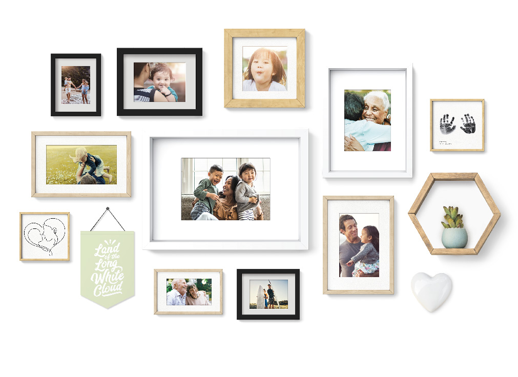 Image of photo's on a wall